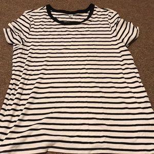 High neck short sleeve shirt